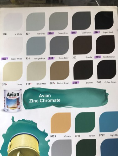 Katalog Warna Cat Besi dan Kayu Avian 3