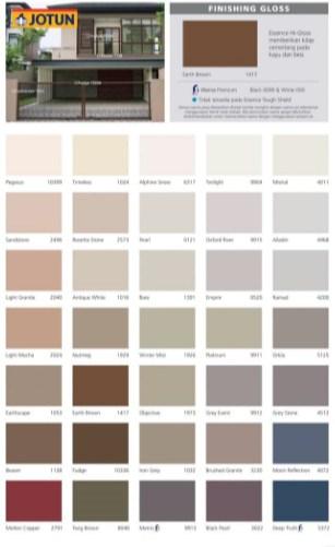 Katalog Warna Cat Besi dan Kayu Jotun 2