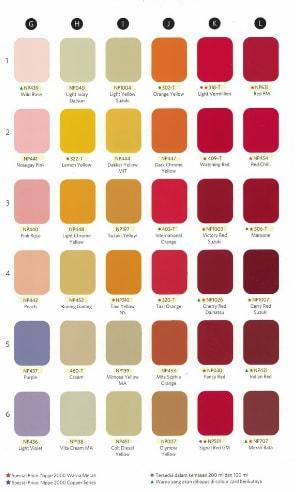 Katalog Warna Cat Duco Nippe 2000 3