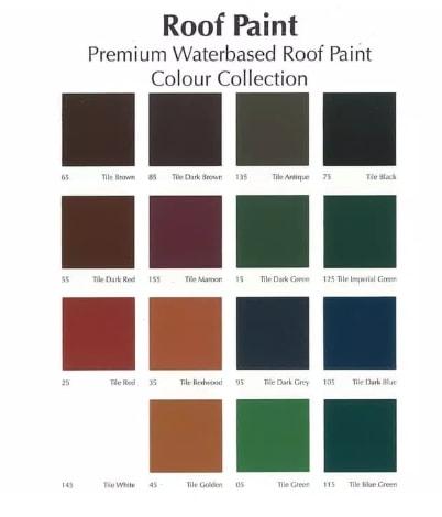 Katalog Warna Cat Genteng Mowilex Roof Paint