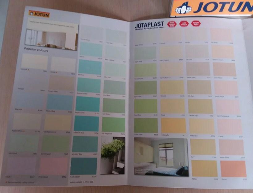 Katalog Warna Cat Jotun Jotaplast