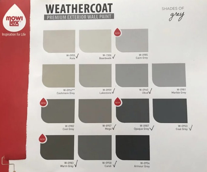 Katalog Warna Cat Mowilex Exterior Weathercoat 2