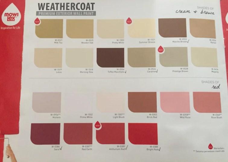 Katalog Warna Cat Mowilex Exterior Weathercoat 3