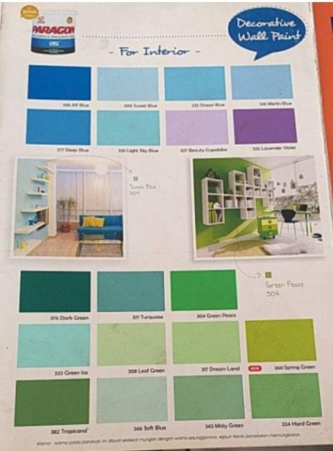 Katalog Warna Cat Paragon Elmulsion Interior 2