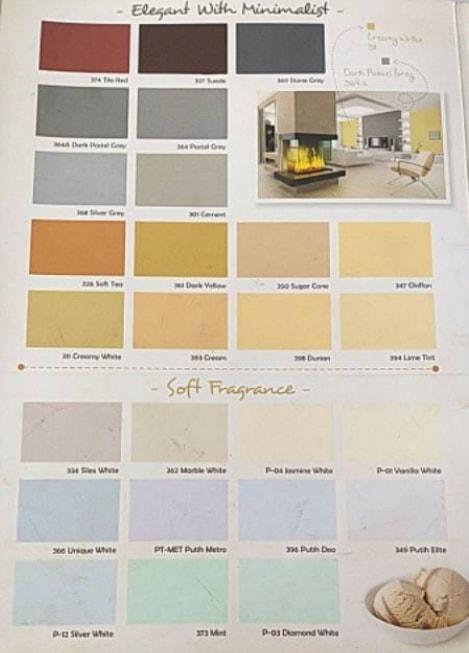Katalog Warna Cat Paragon Elmulsion Interior 3