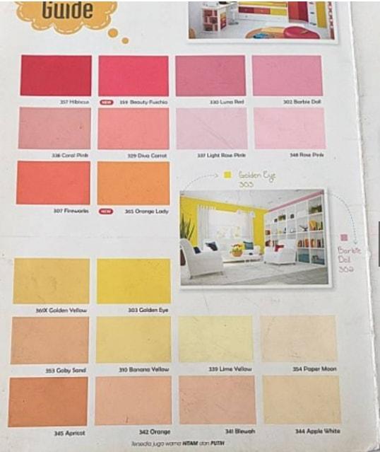 Katalog Warna Cat Paragon Elmulsion Interior