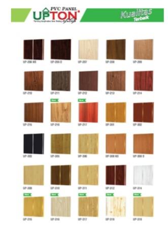 Catalog Warna Motif Plafon PVC Upton