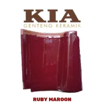 Gambar Harga Genteng Keramik Kia Ruby Maroon
