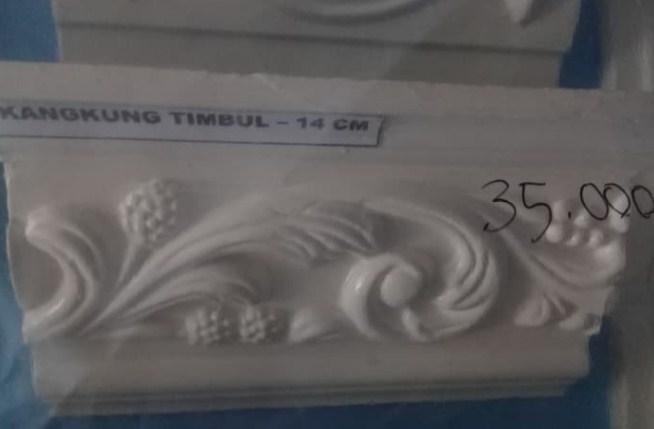 Gambar Harga List Gypsum Timbul Motif Kangkung