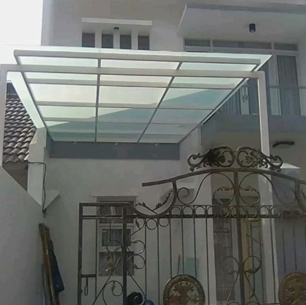 Gambar Kanopi Atap Polycarbonate atau Fiber