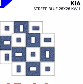 Model Keramik Kamar Mandi Merk Kia Streep Blue