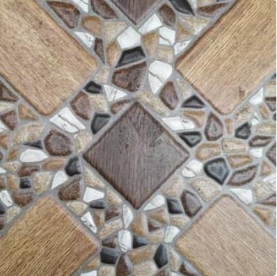 Motif Keramik Lantai 40x40 Merk Ikad Makara Brown