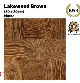 Motif Keramik Lantai 40x40 Merk Kia Lakewood Brown
