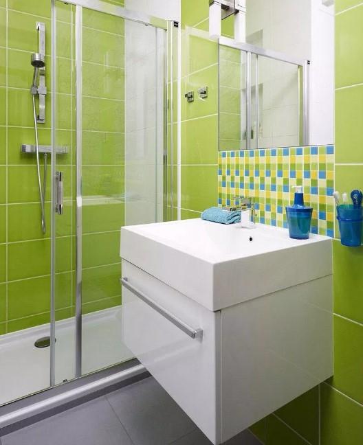 model keramik kamar mandi warna hijau