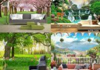 Gambar Harga Wallpaper Dinding 3D Pemandangan Alam