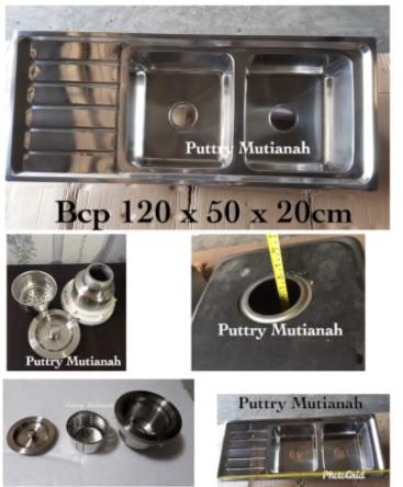 Gambar Harga Wastafel Cuci Piring 2 Bak Stainless