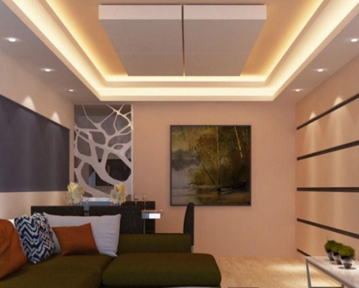 Desain Ruangan Tamu Plafon Minimalis